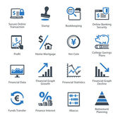 Personal & Business Finance Icons Set 3 - Blue Series — Stockvektor