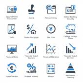 Personal & Business Finance Icons Set 3 - Blue Series — Wektor stockowy
