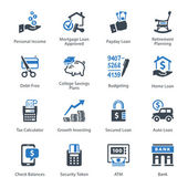 Personal & Business Finance Icons Set 2 - Blue Series — Stockvektor