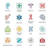 Colored Medical & Health Care Icons - Set 1 — Stock Vector