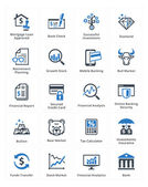 Personal & Business Finance Icons Set 1 - Blue Series — Stockvektor