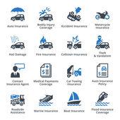 Vehicle Insurance - Blue Series — Stock Vector