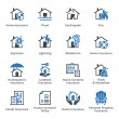 Home Insurance Icons - Blue Series — Stock Vector #64025823