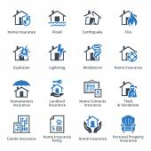 Home Insurance Icons - Blue Series — Stock Vector