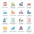 Auto Insurance Icons - Colored Series — Stock Vector #77320766