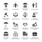 Business Insurance Icons — Stock Vector