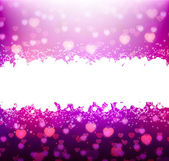 Violet background with hearts for your text — Cтоковый вектор