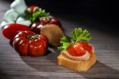 Toats with pate and caviar — Foto Stock