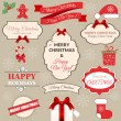 A set of Christmas design elements — Stock Vector #55412665