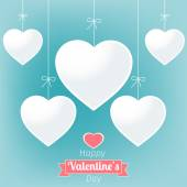 Vector illustration of a Valentine background — Stock Vector