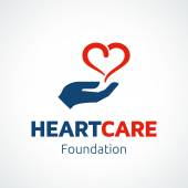Heart in Hand Logo Template PHOTO — Stock Vector