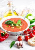 Gaspacho de tomate — Fotografia Stock