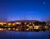 Yachts in the bay of Athens — Stock Photo