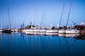 Yachts in the bay of Athens — Stockfoto