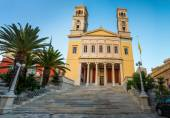 Church in main capitol Greece Cyclades islands — Stock Photo