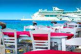 Ristoranti isola greca — Foto Stock