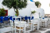 Greek island restaurants — Stock Photo