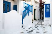 Grekisk ö gatan — Stockfoto
