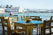 Greek island restaurants — Stock Photo