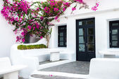 Greek island building — Foto Stock