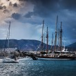 Yachts in the bay of Athens — Stock Photo #63308277
