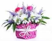 バラと菊の花束 — ストック写真