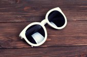 Stylish white sunglasses — Stock Photo