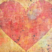 Red heart on grunge background — Stock Photo