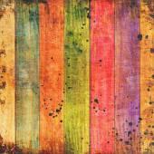 Fundo vívido de pranchas de madeira coloridas — Fotografia Stock