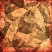 Fond de papier froissé — Photo