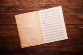 Blank paper for musical notes — Stock Photo
