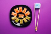 Maki sushi with present — Stock Photo