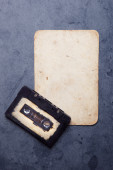 Audio cassette with magnetic tape — Stock Photo