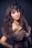 Młoda kobieta retro — Zdjęcie stockowe