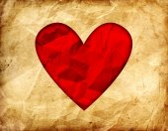 Vintage valentine's day background — Foto Stock