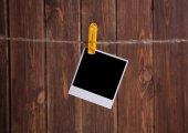Blank instant photo  — Stock Photo
