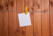 One White blank note — Stock Photo