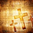 Crosses on a brown background — Stock Photo #71722061