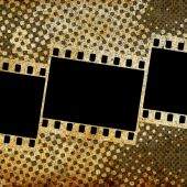 Background with film frames — Stock Photo