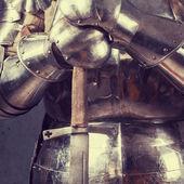 騎士の鎧を着て — ストック写真