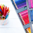 Multi colored pencils — Stock Photo #57806425