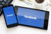 Facebook social network logo — Stock Photo
