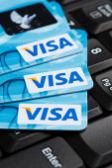 Pile of Visa cards — Stok fotoğraf