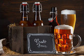 Craft beer glass — Stock Photo