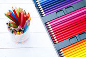 Multi colored pencils — Stock Photo