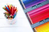 Multi colorido lápis — Foto Stock