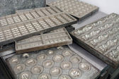 Iron molds for chocolates — Stock Photo
