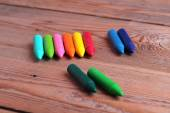 Crayons on a table — Stock Photo