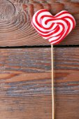 Heart shaped lollipop for Valentine's Day — Stock Photo