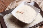 Dry rice in a bowl — Stock Photo